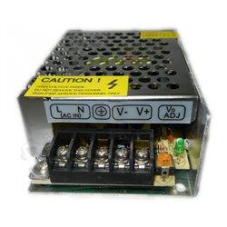 Блок питания DC12V 25W AC170V-260V IP21, 2,08 А (железный корпус с перфорацией)